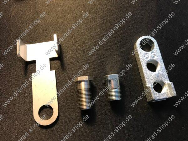 Adapter für Kurbelverkürzer für breite Kurbeln inkl Schraube mit Kurbelverkürzer