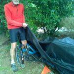Fahrradgarage Dreirad für Erwachsene -Abdeckplane Wetterschutzplane für das Liegerad Skorpion