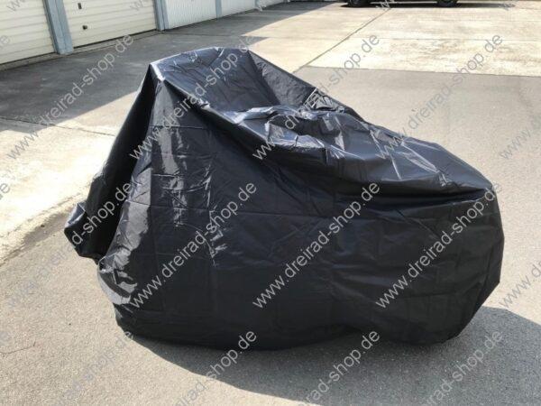 Wetterschutzplane für Erwachsenen Dreirad Farbe Schwarz